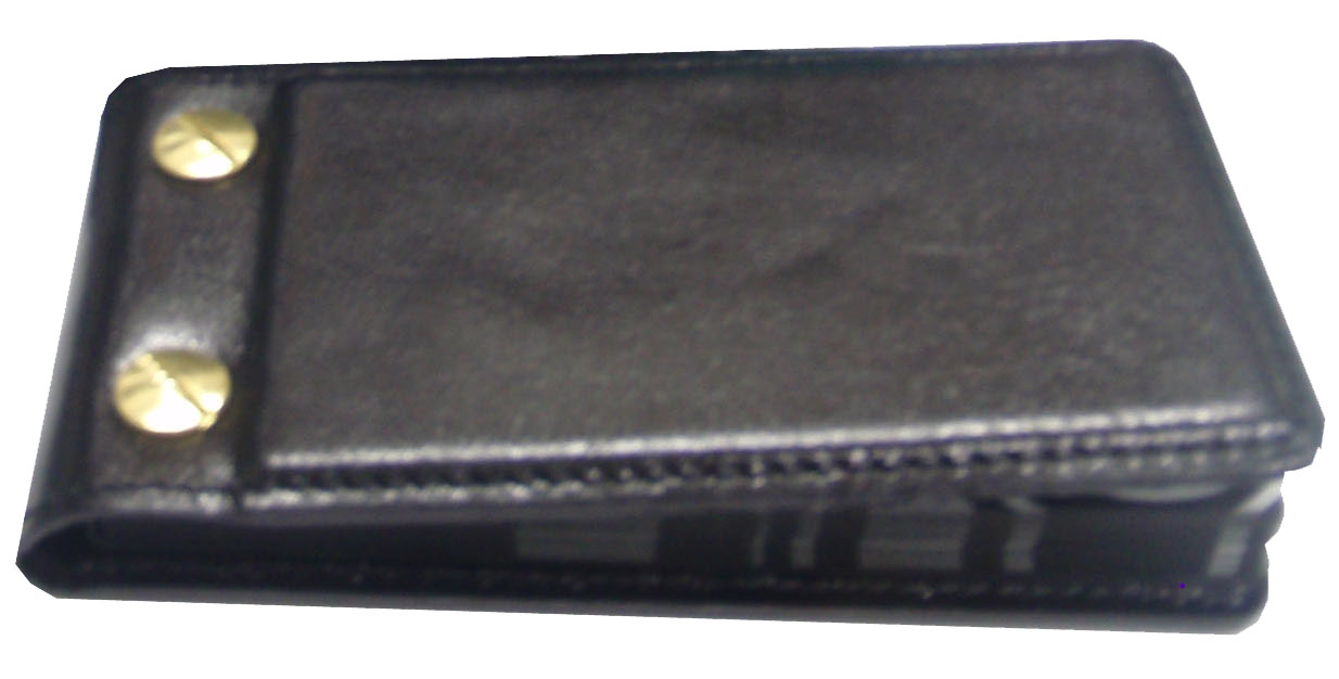 Обложка для отрывных визиток черный лак